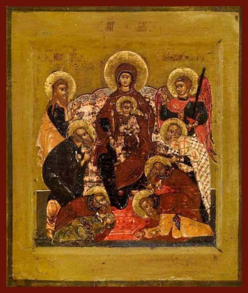 Mother Of God Enthroned With Saints - Icons