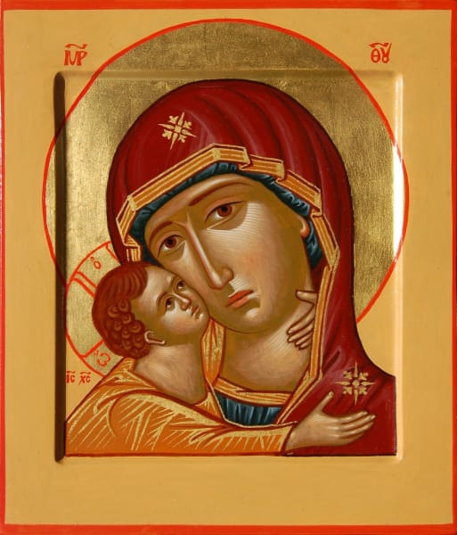 Mother Of God Vladimir Detail - Icons
