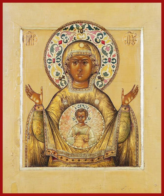 theotokos sign orthodox icon