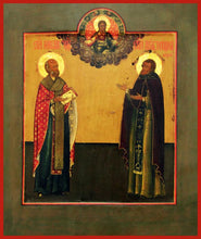 Load image into Gallery viewer, Sts. Nicholas of Myra and Tikhon of Lukhov orthodox icon