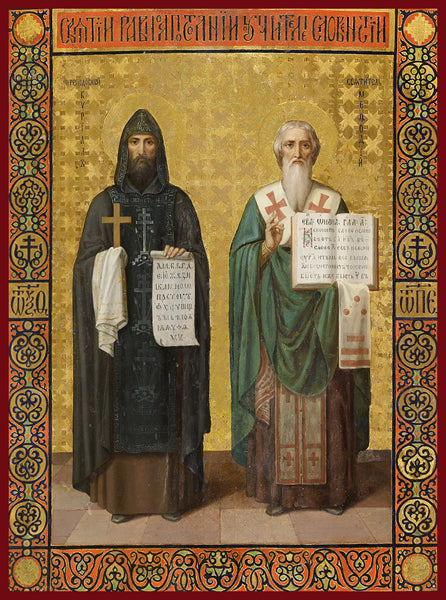 Sts. Cyril and Methodius Orthodox Icon