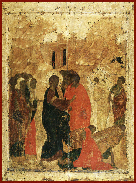 The Raising of Lazarus Orthodox Icon Roublev
