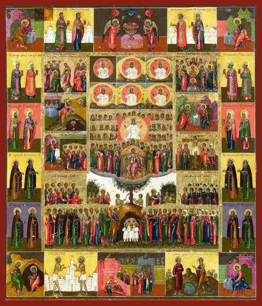Ruler Of All With Scenes And Saints - Icons