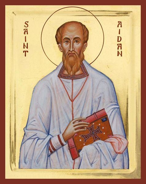 St. Aiden Of Lindisfarne - Icons