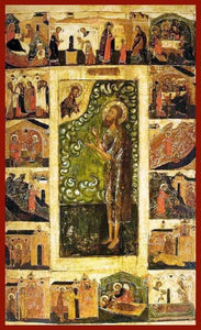St. Alexy The Man Of God With Scenes - Icons