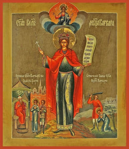 St. Barbara The Great Martyr - Icons