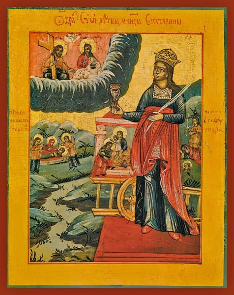 St. Catherine The Great Martyr - Icons