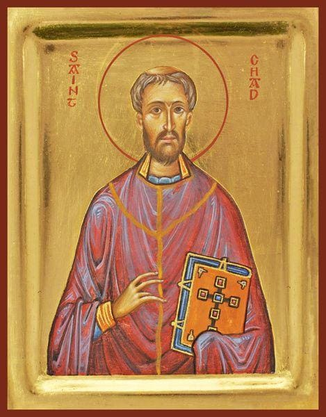 St. Chad Of Mercia - Icons