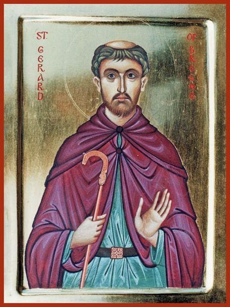 St. Gerard Of Brogne - Icons