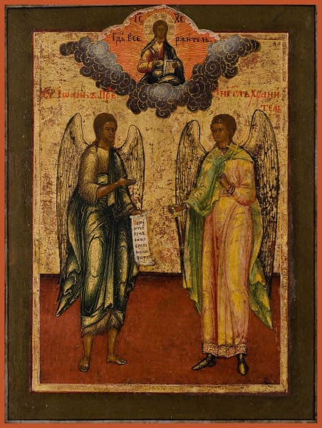 St. John The Forerunner And The Guardian Angel - Icons