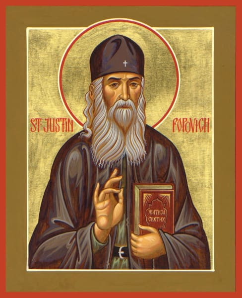 St. Justin Popovich - Icons