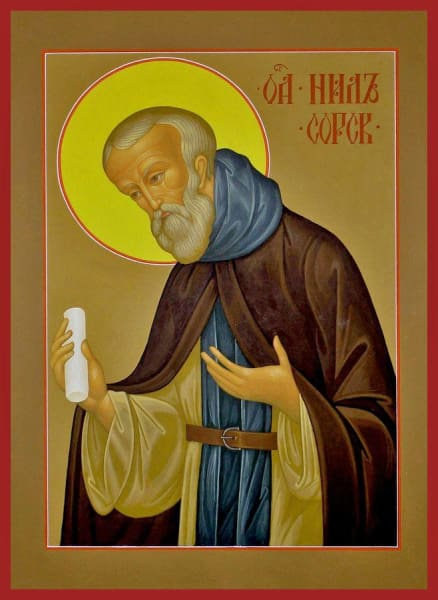 St. Nilus Of Sora - Icons