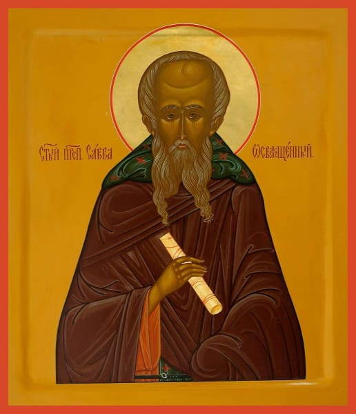 St. Sabbas The Sanctified - Icons