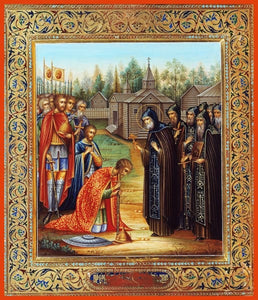 St. Sergius Of Radonezh Blessing The Holy Great Prince Dimitri Donskoy - Icons