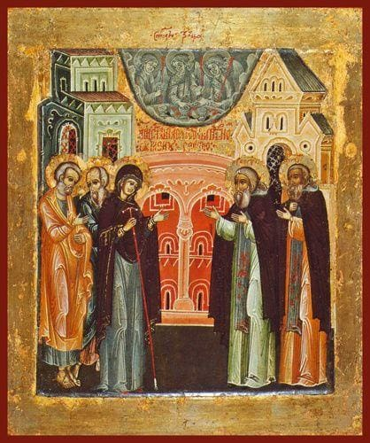 St. Sergius Of Radonezh (Mother Of God Appears To St. Sergius) - Icons