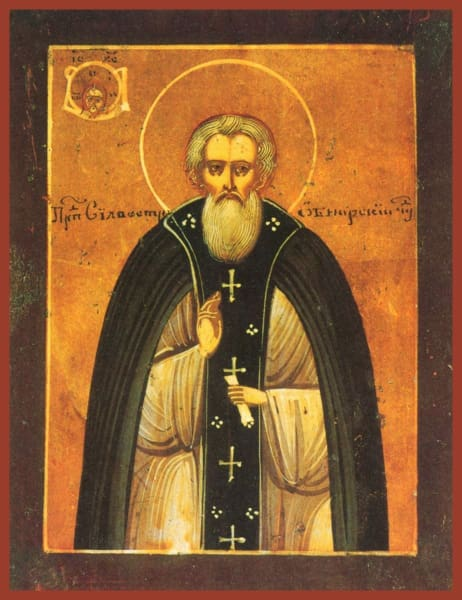 St. Sylvester Of Obnora - Icons