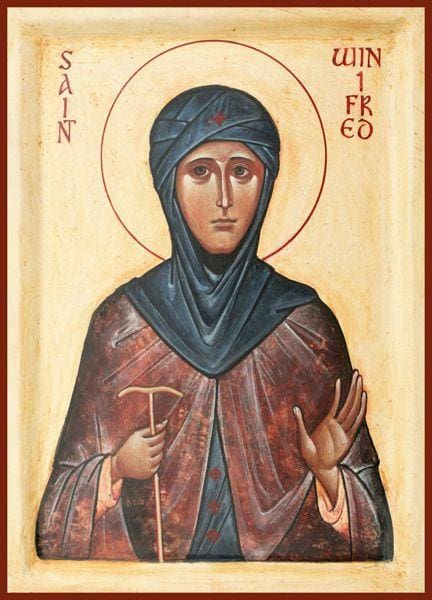 St. Winifred Of Wales - Icons