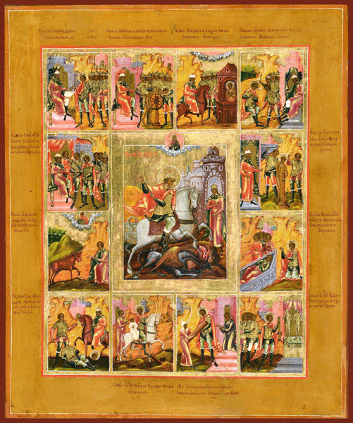 St. George the Great Martyr with Life Scenes (Vita) Orthodox Icon