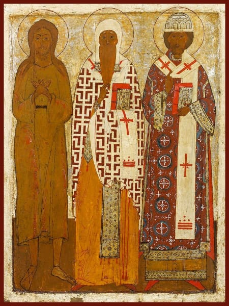 Sts. Alexy The Man Of God Isaiah Of Rostov And Phillip Of Moscow - Icons