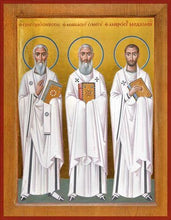 Load image into Gallery viewer, Sts. Ambrose Of Milan Athanasius The Great And Gregory - Icons