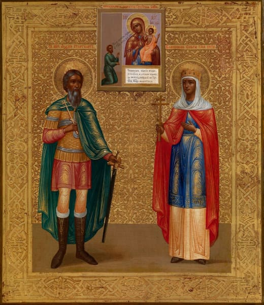 Sts. Andrew Stratilatis And Olga Equal To The Apostles - Icons