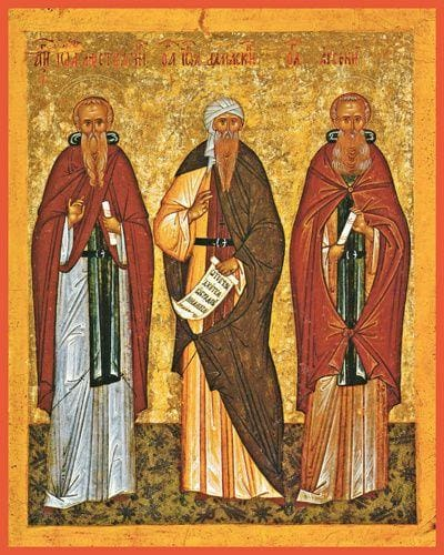 Sts. Arsenius The Great John Of The Ladder And John Of Damascus - Icons