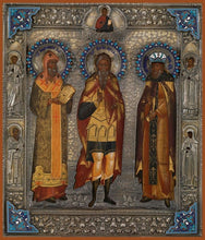 Load image into Gallery viewer, Sts. Athanasios The Patriarch Arefo The Martyr And Tsar Erezvon - Icons