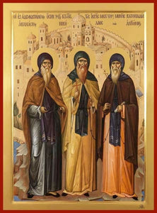 Sts. Athanasius Nicholas And Anthony Vatopedi Founders - Icons
