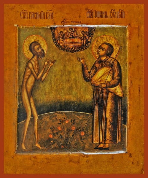 Sts. Basil And John The Fools For Christ - Icons