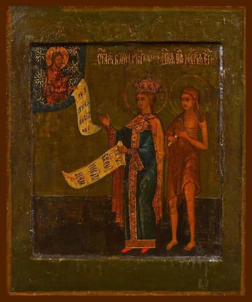 Sts. Catherine The Great Martyr And Mary Of Egypt - Icons