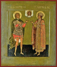 Load image into Gallery viewer, Sts. Demetrius The Great Martyr And Dimitri Of Moscow - Icons