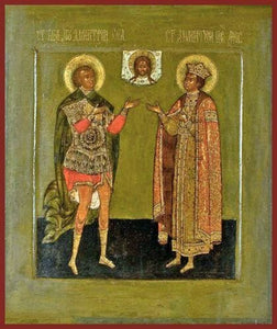 Sts. Demetrius The Great Martyr And Dimitri Of Moscow - Icons