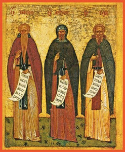 Sts. Euthymius The Great Anthony The Great And Sava The Sanctified - Icons