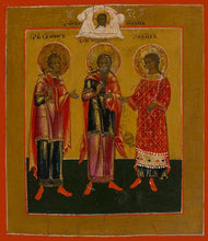 Load image into Gallery viewer, Sts. Gourius Samon And Abib - Icons