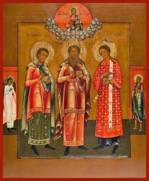 Sts. Gourius Samon And Abib - Icons