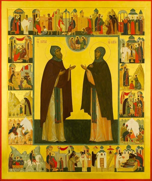 Sts. Kyrill And Maria Parents Of St. Sergius Of Radonezh - Icons