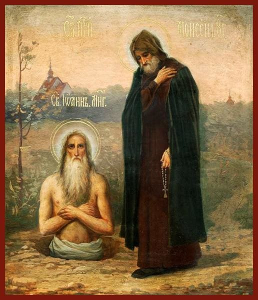 Sts. Moses The Hungarian And John The Much Suffering - Icons