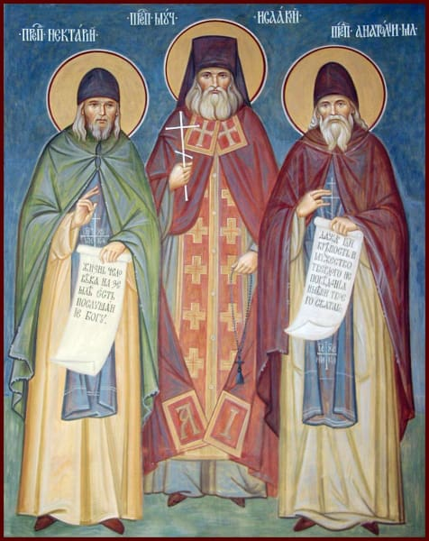 Sts. Nektary Isaac And Anatoly Of Optina - Icons