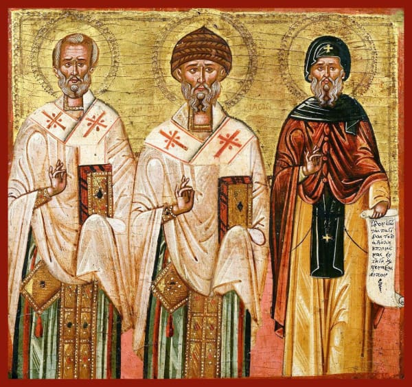 Sts. Nicholas Spyridon And Anthony The Great - Icons