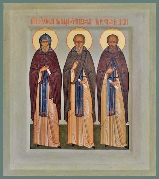 Sts. Nilus Of Sora Paphnutius Of Borovsk And Joseph Of Volokolmsk - Icons