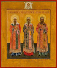 Load image into Gallery viewer, Sts. Peter Alexy And Jonah Metropolitans Of Moscow - Icons