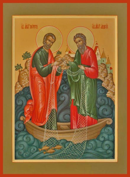 Sts. Peter And Andrew Fishermen Of Men - Icons