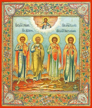 Load image into Gallery viewer, Sts. Peter Tryphon Panteliemon And Palegia - Icons
