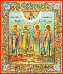 Sts. Peter Tryphon Panteliemon And Palegia - Icons