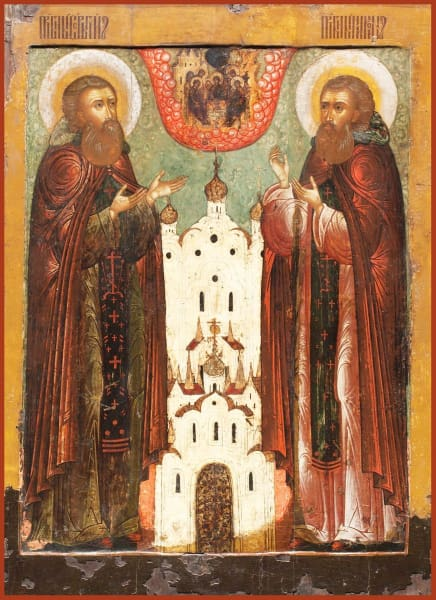 Sts. Sergius And Nikon Of Radonezh - Icons