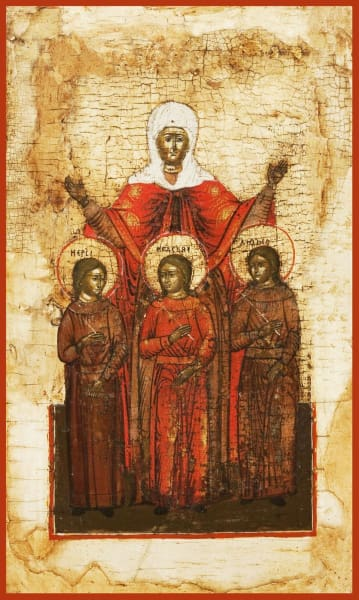 Sts. Sofia Faith Hope And Love - Icons