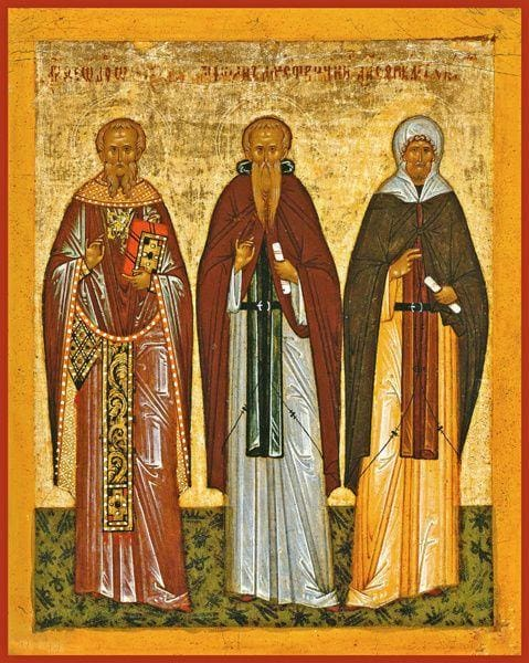 Sts. Theodore The Studite Theodosius The Great And Ephraim The Syrian - Icons