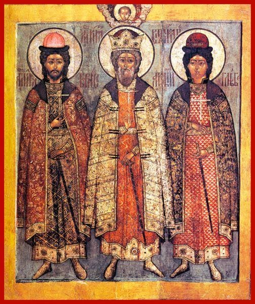 Sts. Vladimir Boris And Gleb - Icons