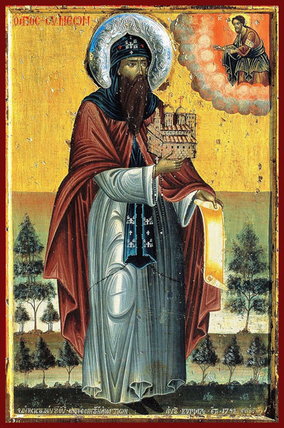 St. Symeon the Barefoot Orthodox icon