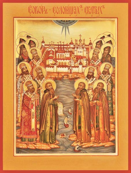 Synaxis Of The Saints Of Solovki - Icons
